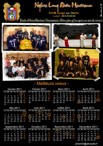 Achat calendrier association 13 pages noir.