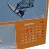 Zoom sur la grille calendaire (jours + numéros de semaines)