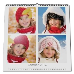 Calendrier photo CARRE mural