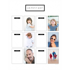 Poster photo magnet
