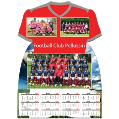 Calendrier photo Maillot de Football