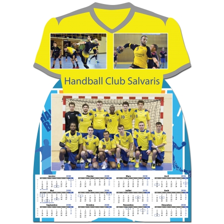 Handball Calendrier.Calendrier Photo Maillot De Handball Format A4 Ou A3 Une Page Recto Handball