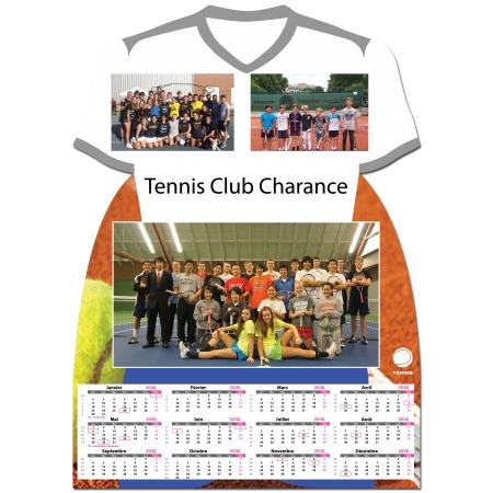 Calendrier photo Maillot de Tennis