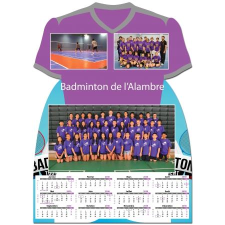 Calendrier photo Maillot de Badminton