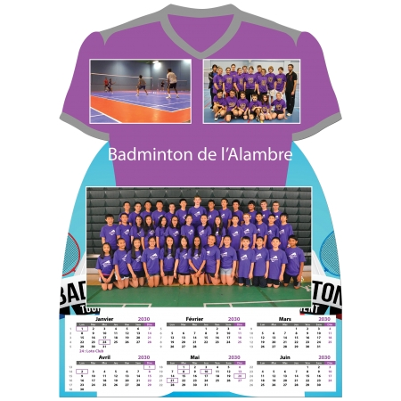 Calendrier photo Maillot de Badminton