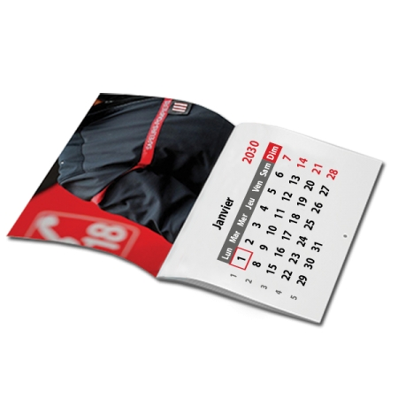 Type De Calendrier.Calendrier Agrafe Format A5 Ou A4 Mural 14 Pages Blanc