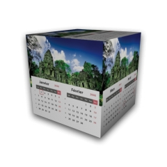 Calendrier Cube douze mois