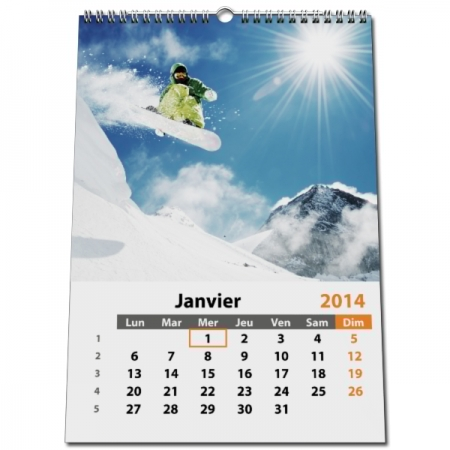 Calendrier Photo A3.Calendrier Photo Classic Format A5 A4 Ou A3 Mural 13 Pages Blanc