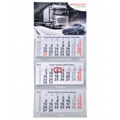 Calendrier 3 blocs à feuillets détachables