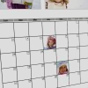 Evénements annotés avec vos photos ou textes dans les cases jours - Calendrier DAMIER mural blanc