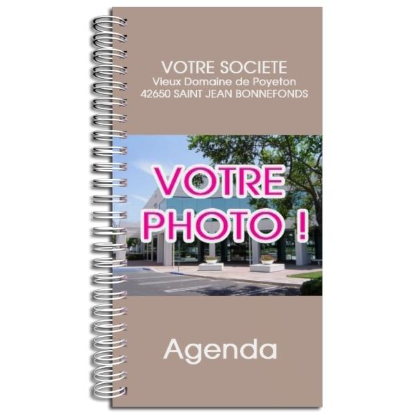 Agenda publicitaire personnalisé TAUPE (9 x 17 cm)