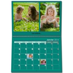 Calendrier photo mural double