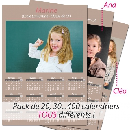 Pack multi calendriers
