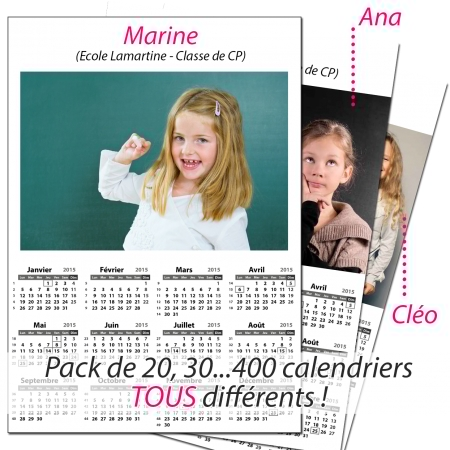Page Calendrier.Pack Multi Calendriers Format A5 A4 Ou A3 Une Page Recto Blanc