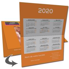 Carte calendrier photo