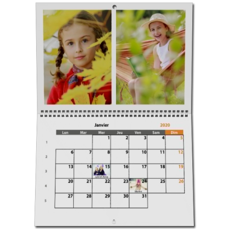 Calendrier Geant.Calendrier Photo Geant Xxl Format 49 X 64 Cm Mural 13 Pages Blanc