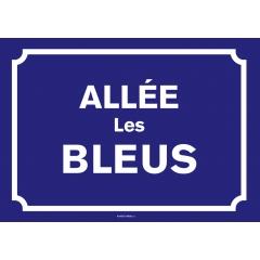 Plaque de rue personnalisée