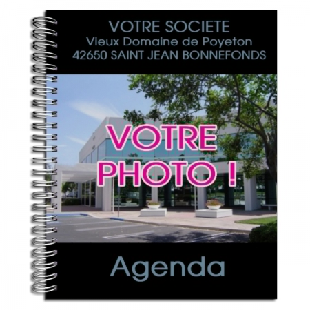 Agenda publicitaire personnalisé NOIR (21 x 27 cm)