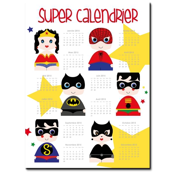 Calendrier poster photo