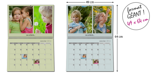 Calendrier Photo Mural Géant