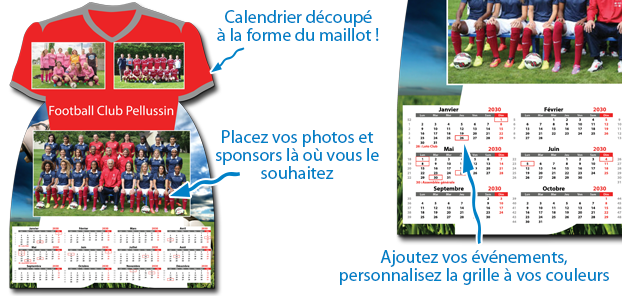 Calendrier photo Maillot