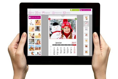 Création de calendrier photo sur Ipad ou tablette