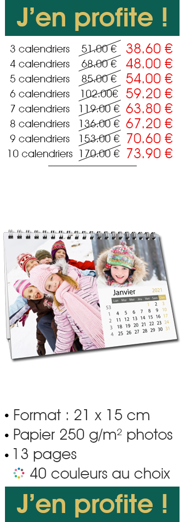 Offre Pack Calendrier À POSER Pano